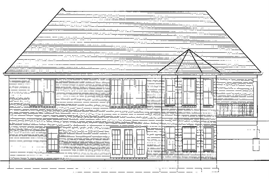 169-1074: Home Plan Rear Elevation