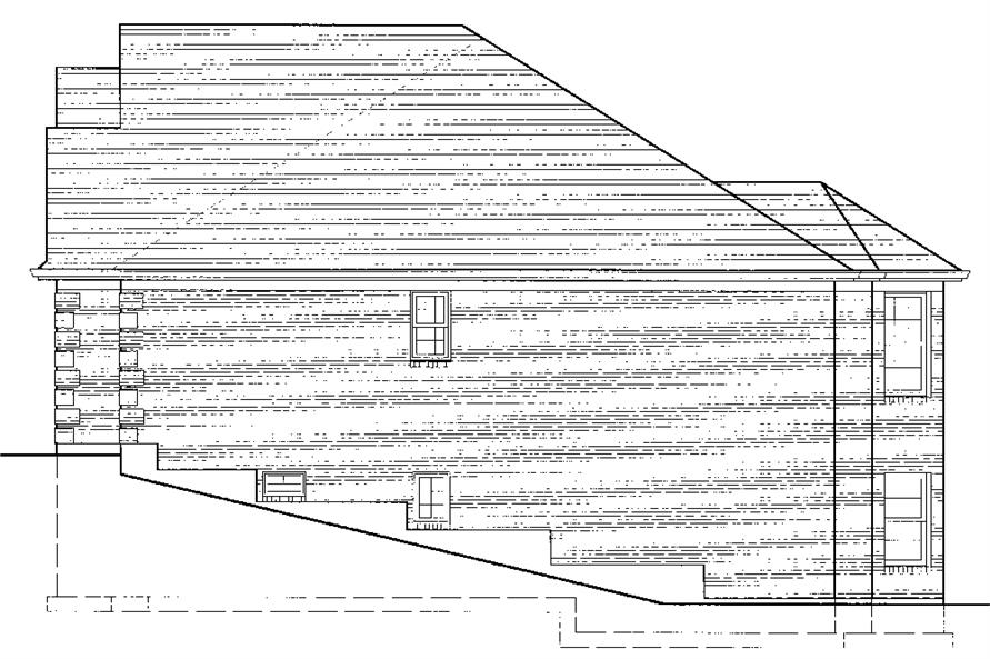 169-1074: Home Plan Right Elevation