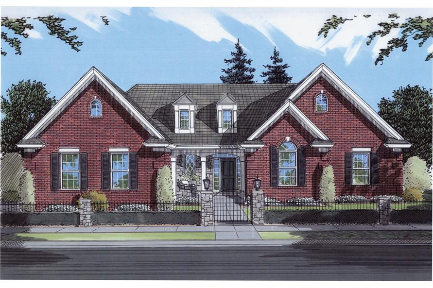 Front elevation of Traditional home (ThePlanCollection: House Plan #169-1074)