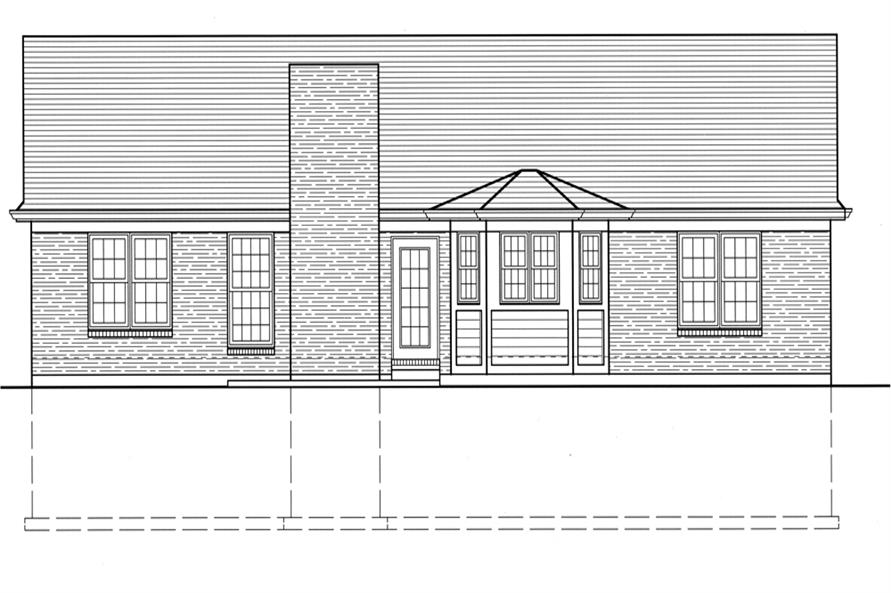 169-1075: Home Plan Rear Elevation