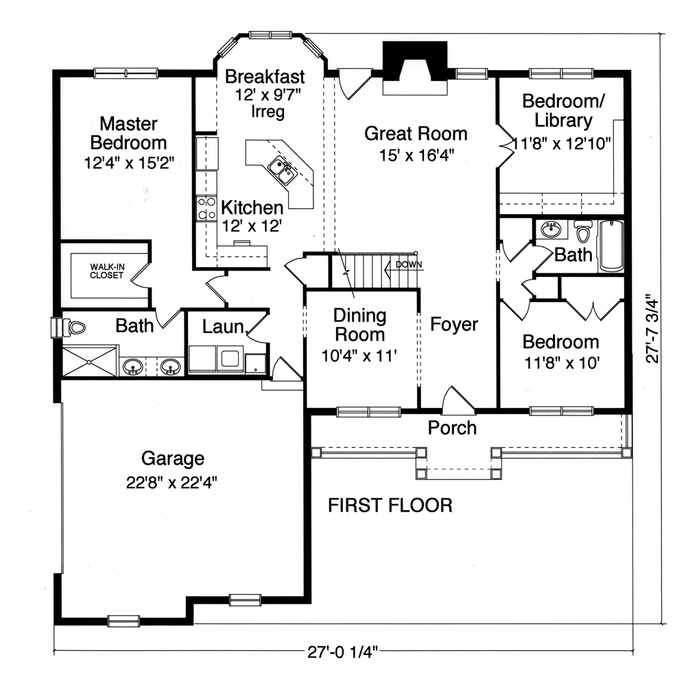 Country house plan 169 1075 3 bedrm 1700 sq ft home for 1700 sq ft home floor plans