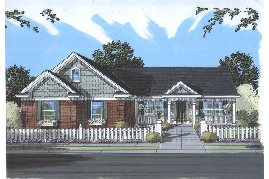 Front elevation of Country home (ThePlanCollection: House Plan #169-1075)