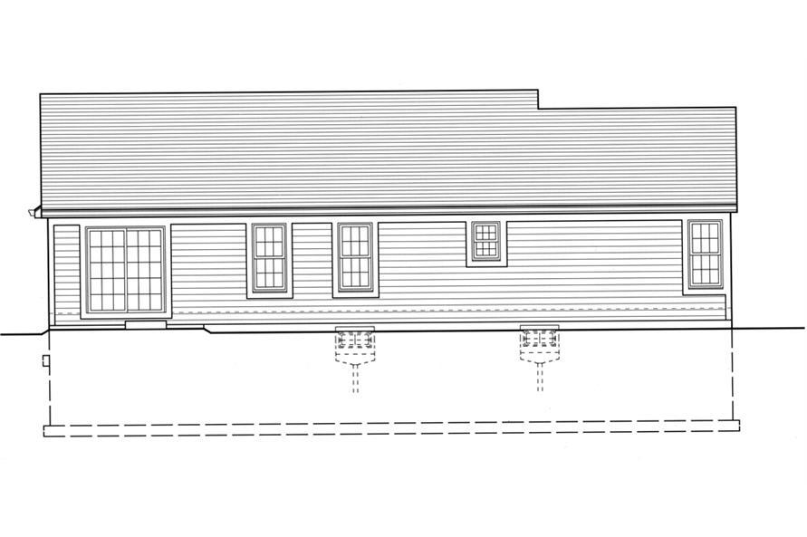 169-1076: Home Plan Rear Elevation
