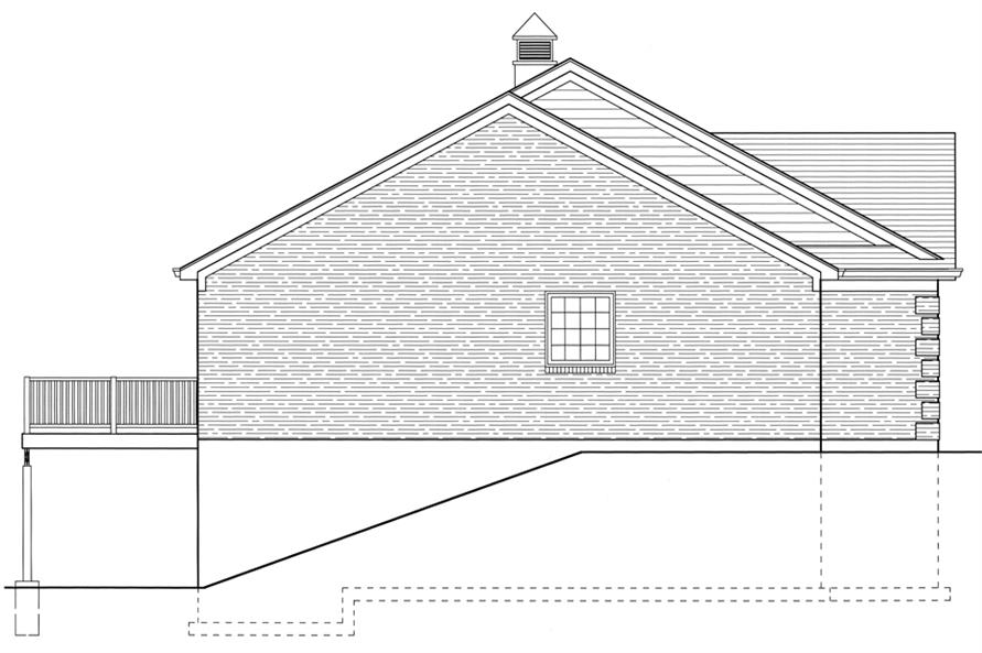 169-1077: Home Plan Left Elevation