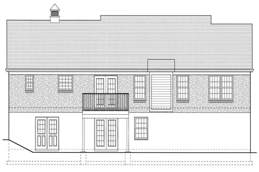 169-1077: Home Plan Rear Elevation