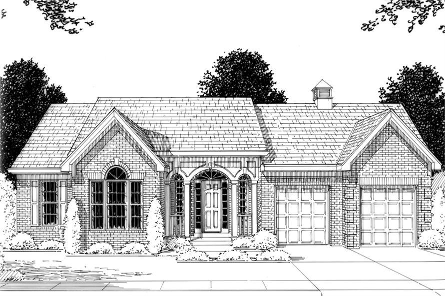 169-1077: Home Plan Rendering