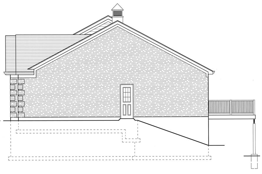 169-1077: Home Plan Right Elevation
