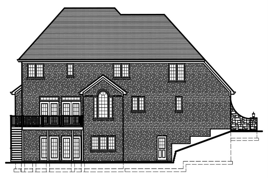 169-1078: Home Plan Rear Elevation