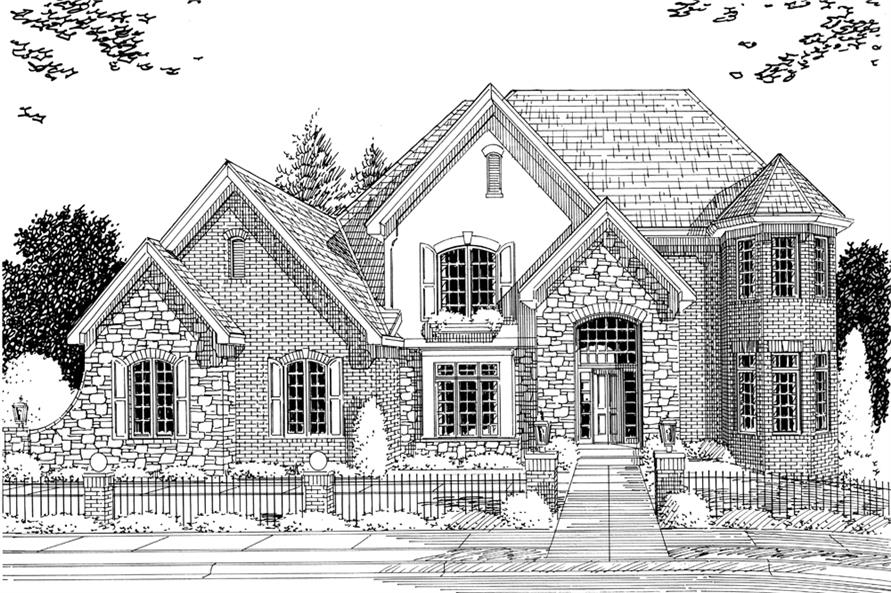 169-1078: Home Plan Rendering