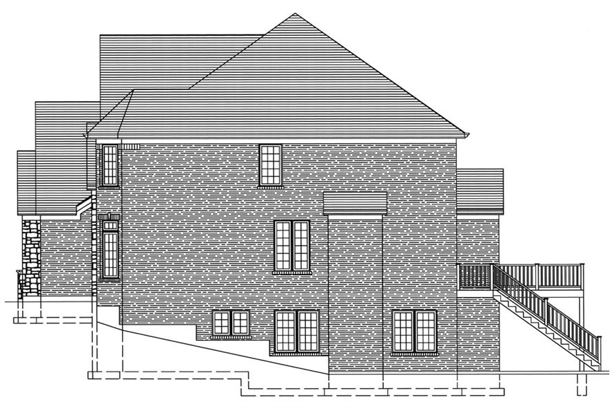169-1078: Home Plan Right Elevation