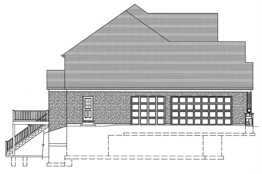169-1078: Home Plan Left Elevation