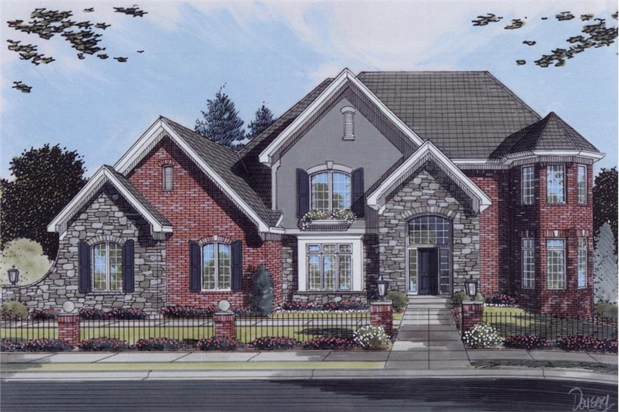 Front elevation of Traditional home (ThePlanCollection: House Plan #169-1078)