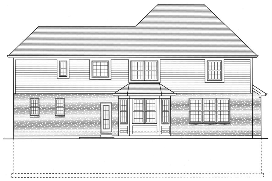 169-1079: Home Plan Rear Elevation