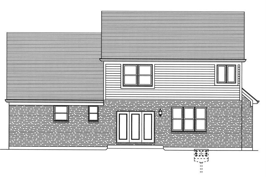 169-1081: Home Plan Rear Elevation