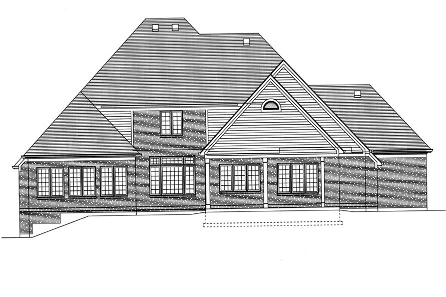 169-1084: Home Plan Rear Elevation