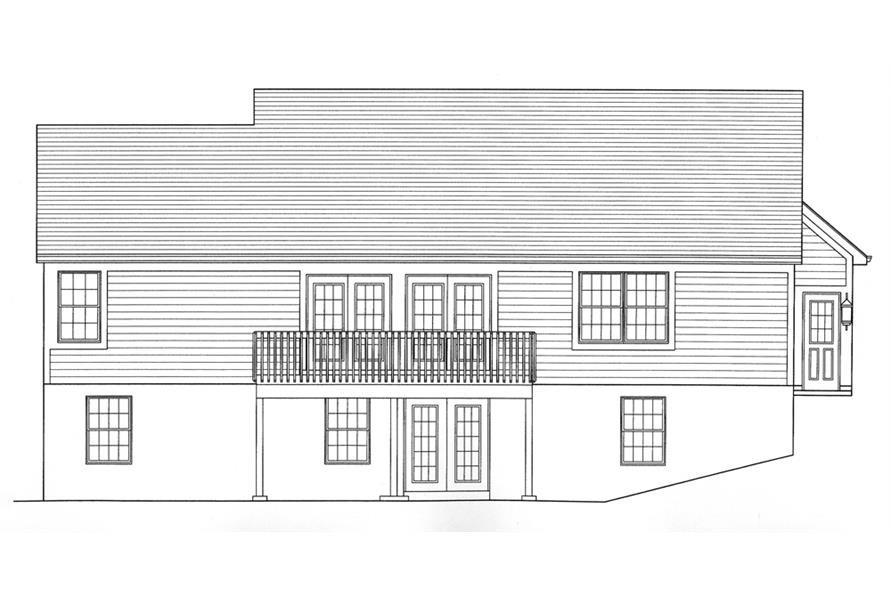 169-1089: Home Plan Rear Elevation
