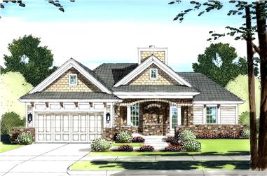 3-Bedroom, 1309 Sq Ft Contemporary House Plan - 169-1090 - Front Exterior