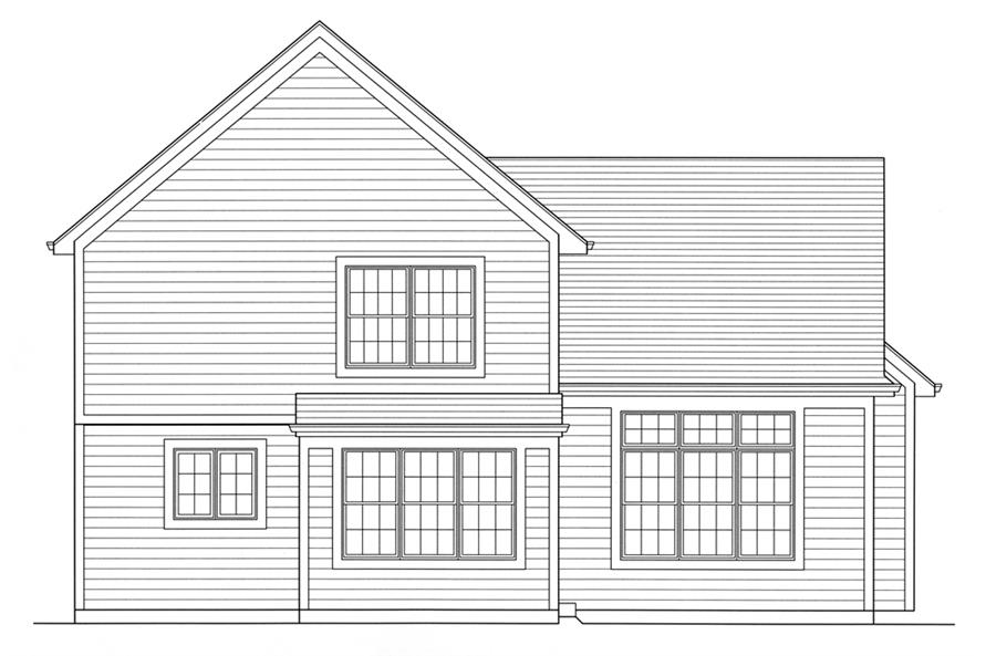 169-1091: Home Plan Rear Elevation