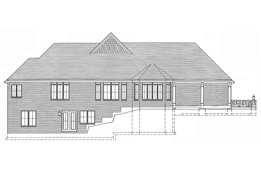 169-1092: Home Plan Rear Elevation