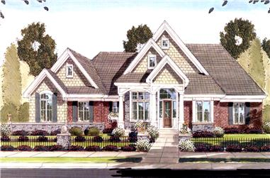 2-Bedroom, 2796 Sq Ft Craftsman House Plan - 169-1092 - Front Exterior