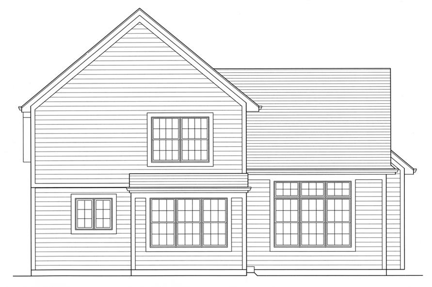 169-1093: Home Plan Rear Elevation