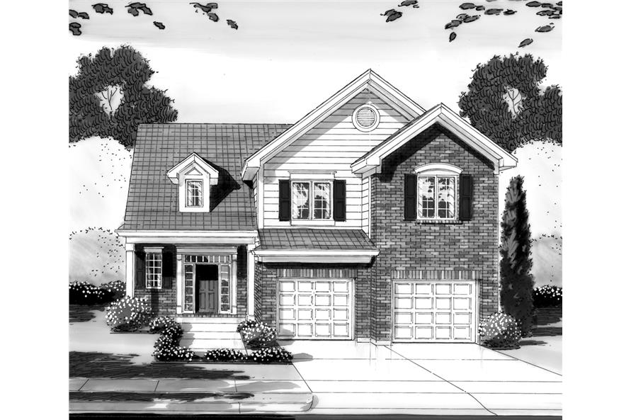 169-1093: Home Plan Rendering