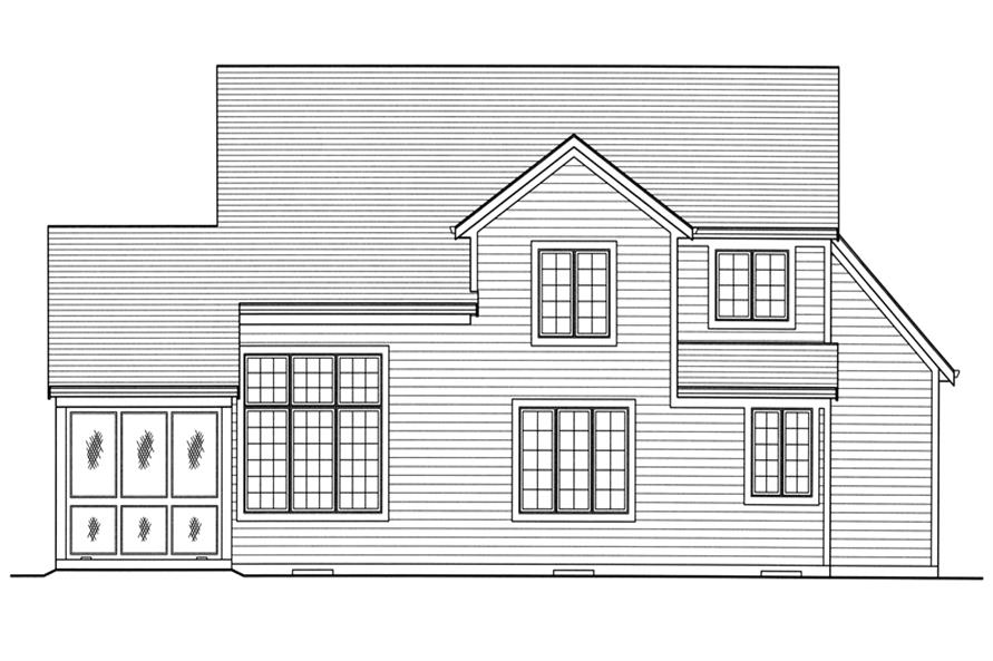 169-1094: Home Plan Rear Elevation