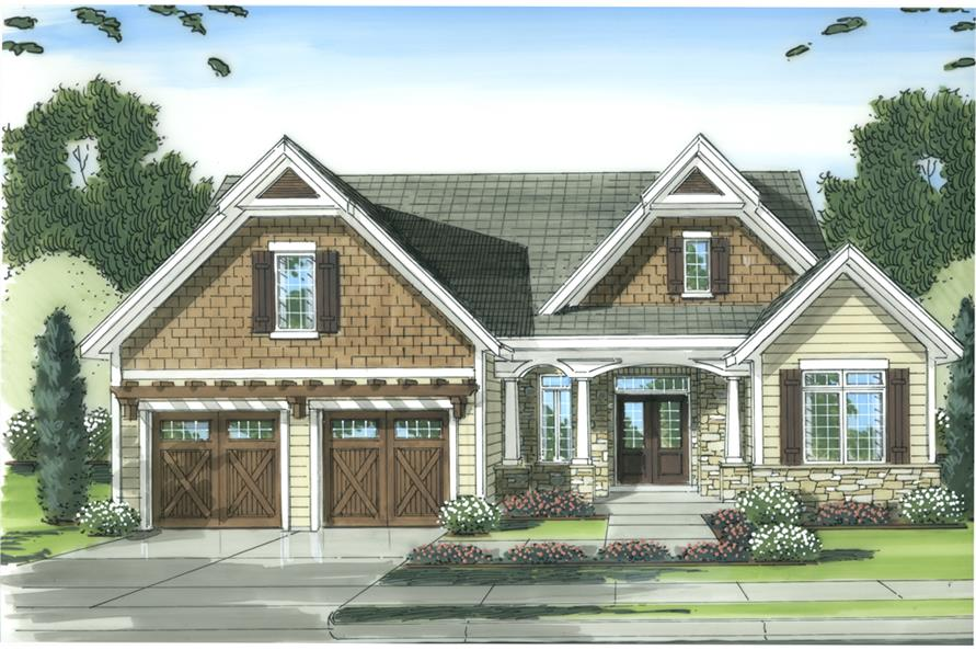 Front elevation of Country home (ThePlanCollection: House Plan #169-1094)