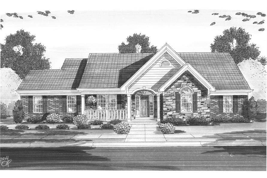 169-1095: Home Plan Rendering