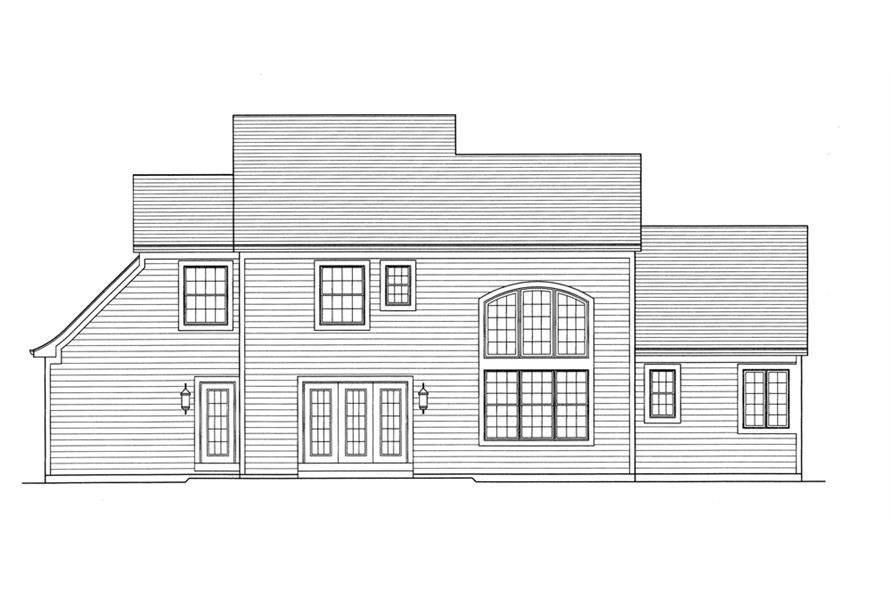 169-1096: Home Plan Rear Elevation