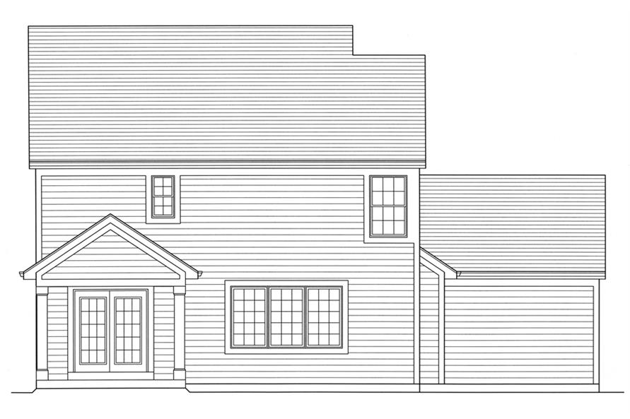 169-1097: Home Plan Rear Elevation