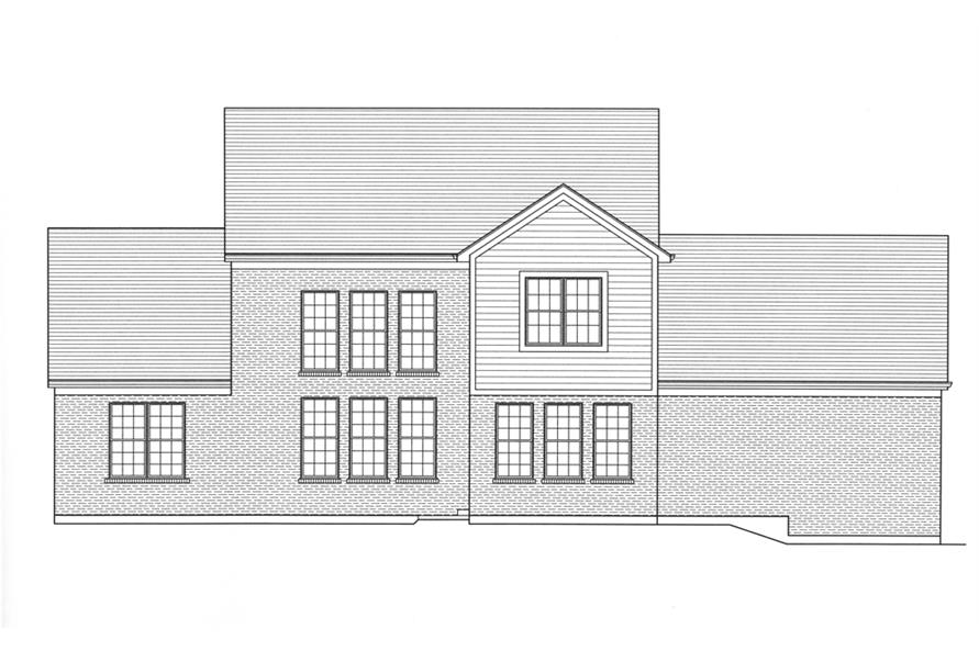169-1098: Home Plan Rear Elevation