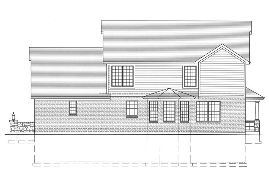 169-1099: Home Plan Rear Elevation