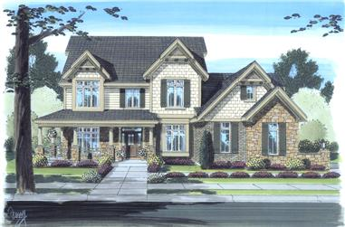 4-Bedroom, 3016 Sq Ft Craftsman Home Plan - 169-1099 - Main Exterior