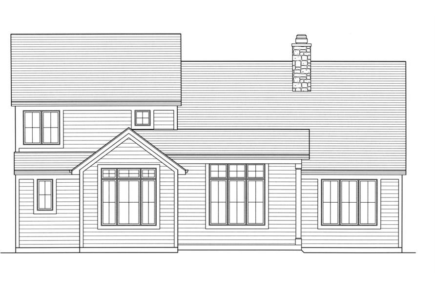 169-1100: Home Plan Rear Elevation