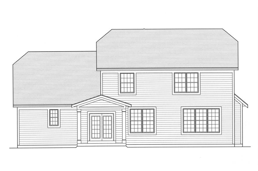 169-1101: Home Plan Rear Elevation