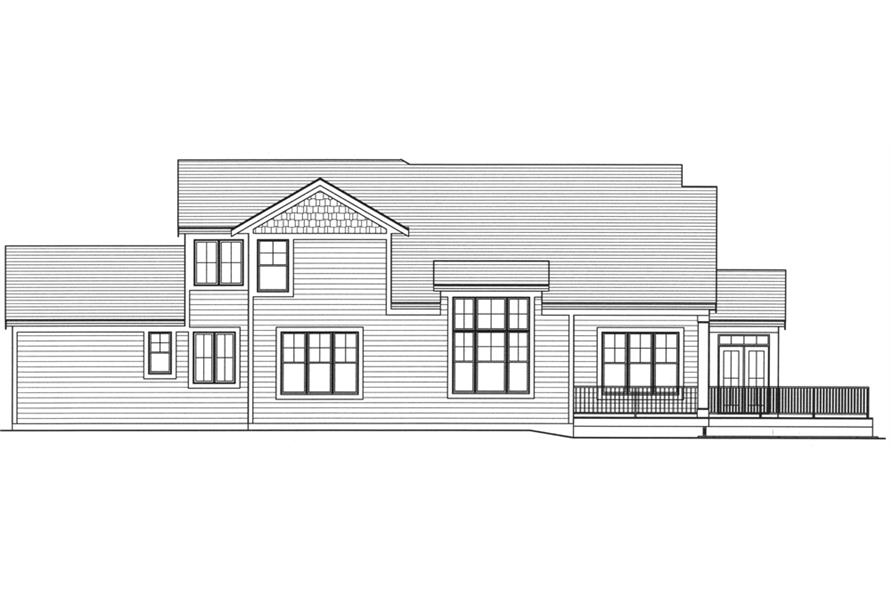 169-1102: Home Plan Rear Elevation