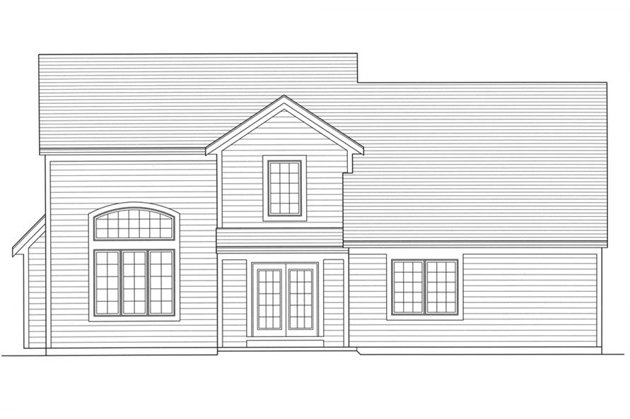 169-1103: Home Plan Rear Elevation