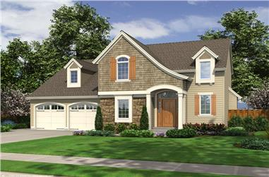 Front elevation of Traditional home (ThePlanCollection: House Plan #169-1103)