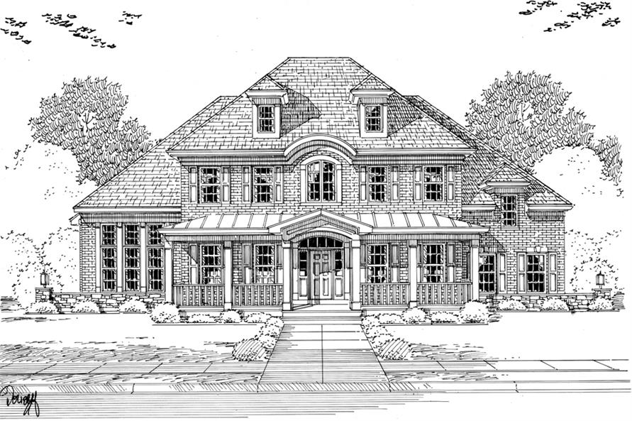 169-1105: Home Plan Rendering