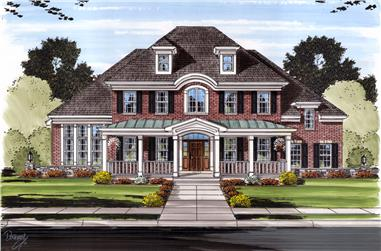 Front elevation of Traditional home (ThePlanCollection: House Plan #169-1105)