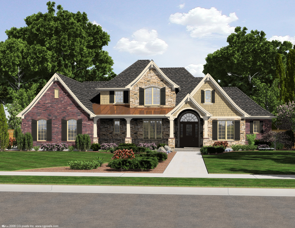 European Style House Plan 4 Bedrms 2 5 Baths 2776 Sq