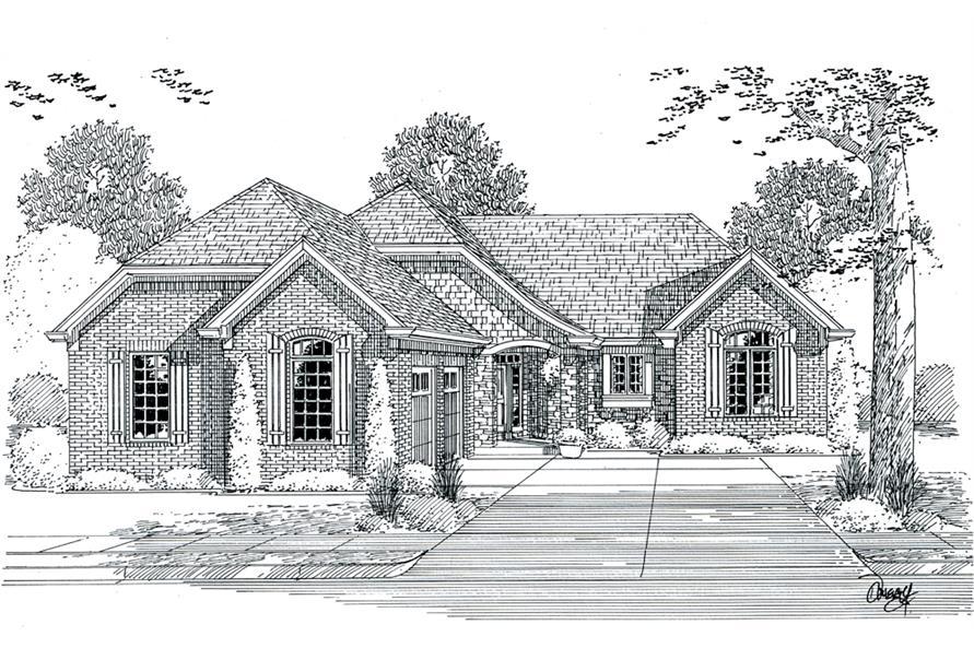 169-1107: Home Plan Rendering