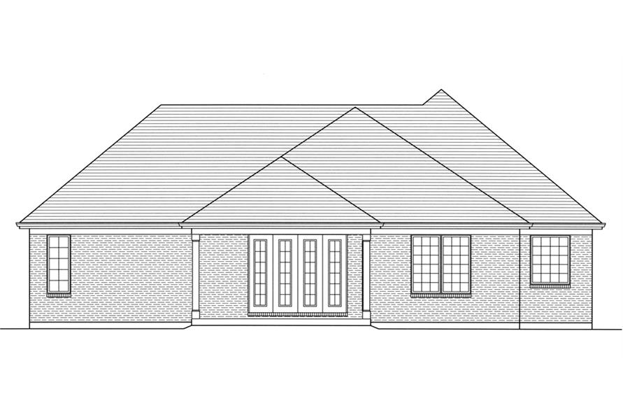 169-1107: Home Plan Rear Elevation