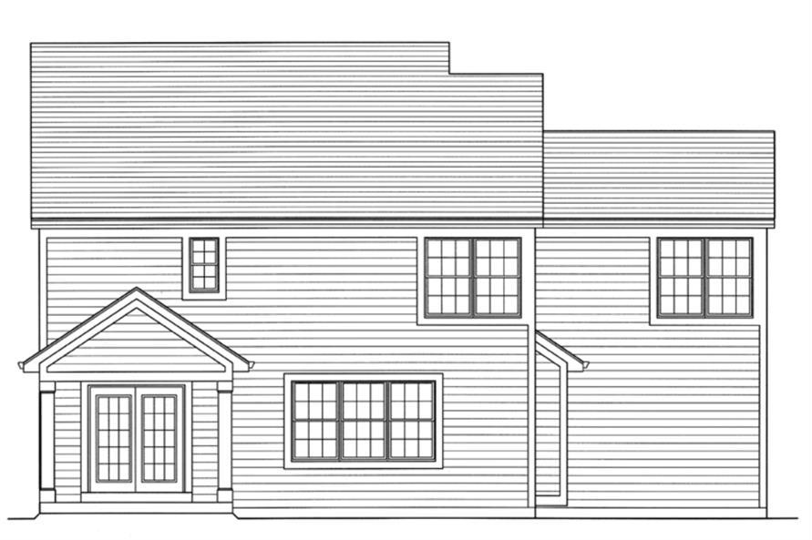 169-1108: Home Plan Rear Elevation