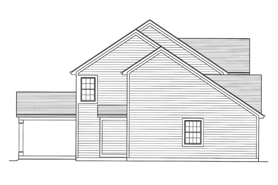 169-1108: Home Plan Right Elevation