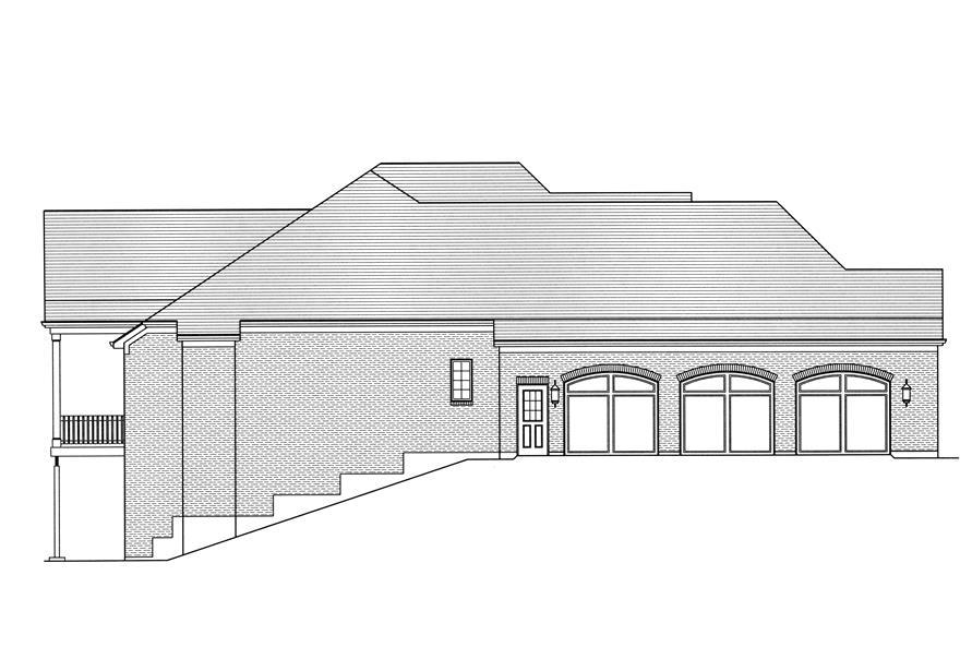 169-1109: Home Plan Left Elevation