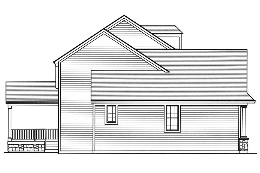 169-1110: Home Plan Left Elevation