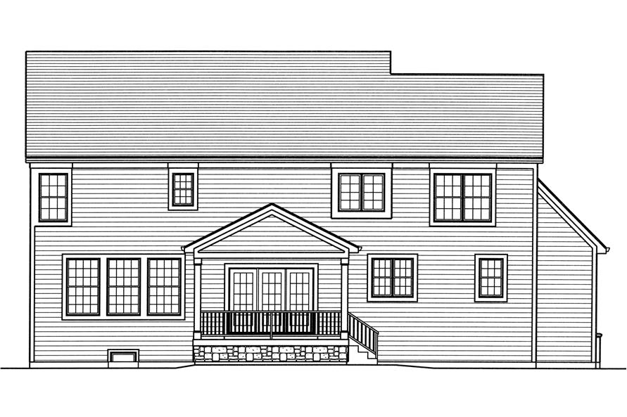 169-1110: Home Plan Rear Elevation
