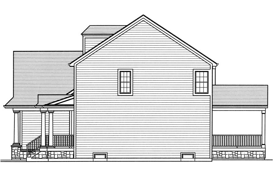 169-1110: Home Plan Right Elevation
